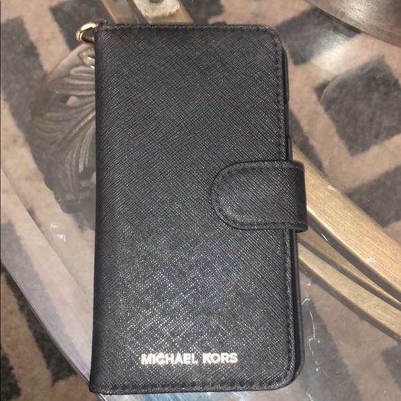 fd8d7dc8a7f2 Michael Kors Accessories | Saffiano Leather Folio Case Iphone 7 ...